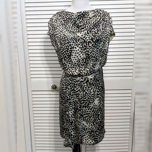 Vince Camuto Animal Print Cowl Neck Pullover Dress